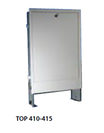 Toptherm TOP 411 - skříň do zdi - 430 x 700 x 120 mm